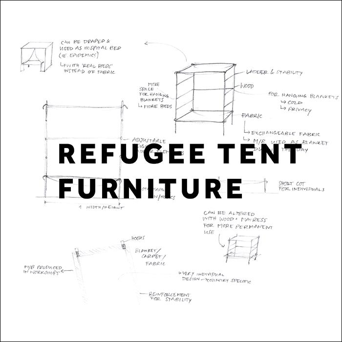 refugee tent furniture