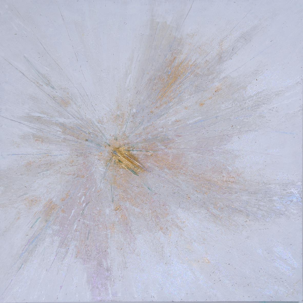 Sadness -  acrylic + glass on chipboard (1,2 x 1,2 m) ©KAT