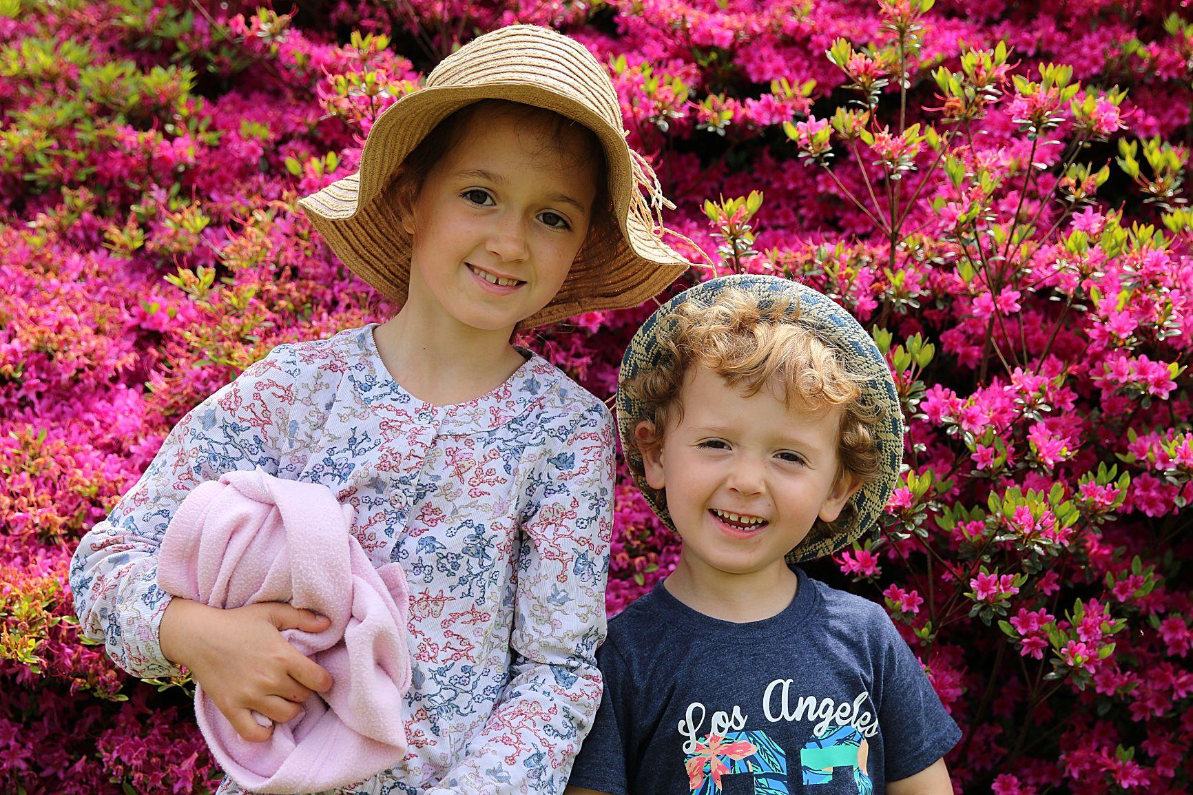 Two kids_pink azaleas_Alan Palmer_low res.jpg
