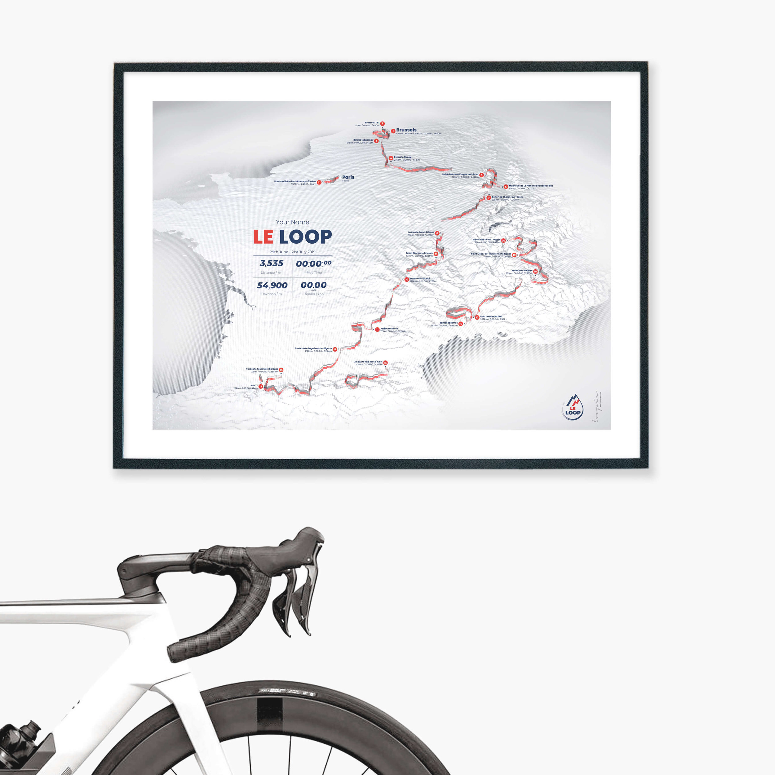 Le Loop2019 - All 21 stages of the 2019 Tour de France