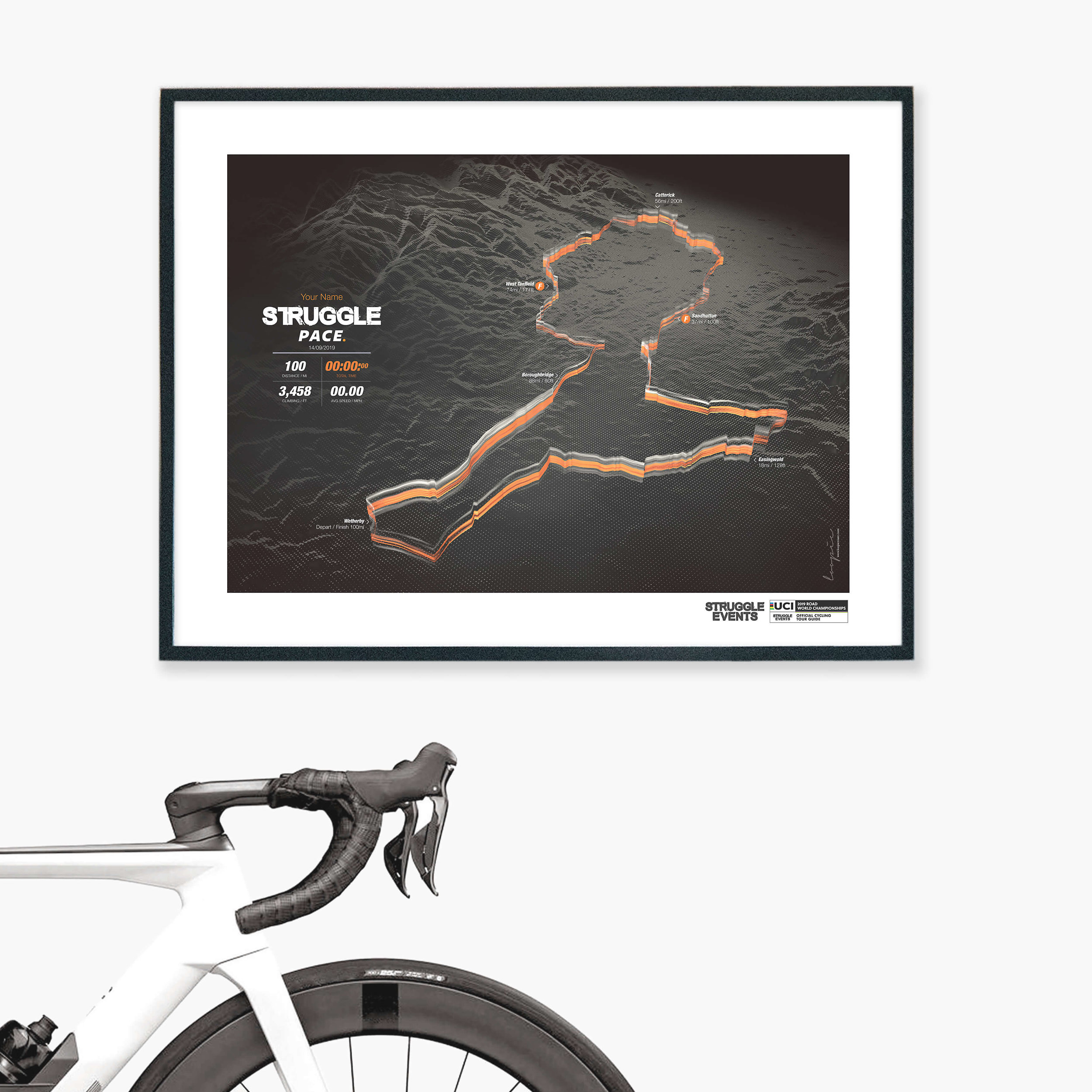 StrugglePace - Personalised GPS art prints. Celebrate your Pace!