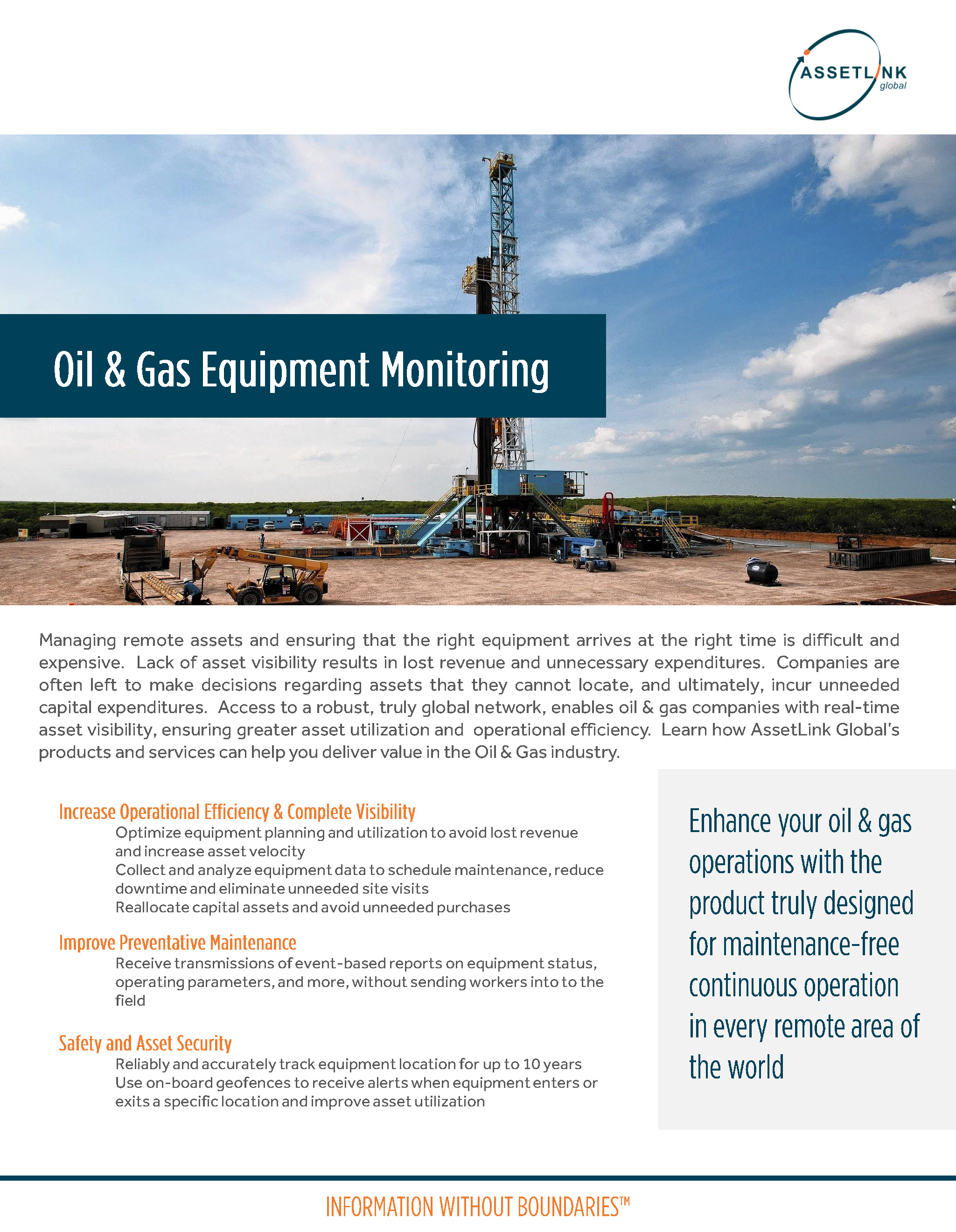 Oil & Gas Equipment Monitoring
