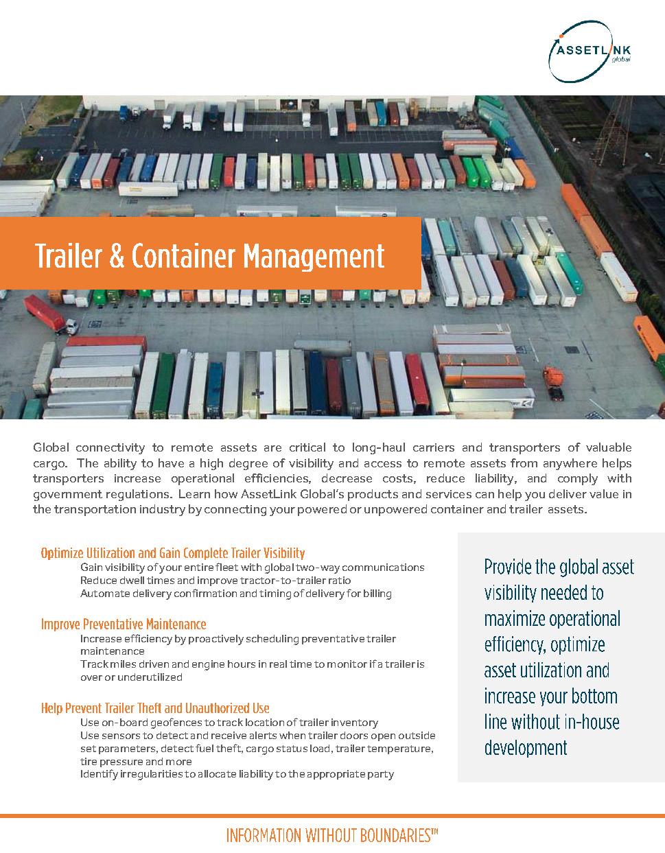 Trailer & Container Management