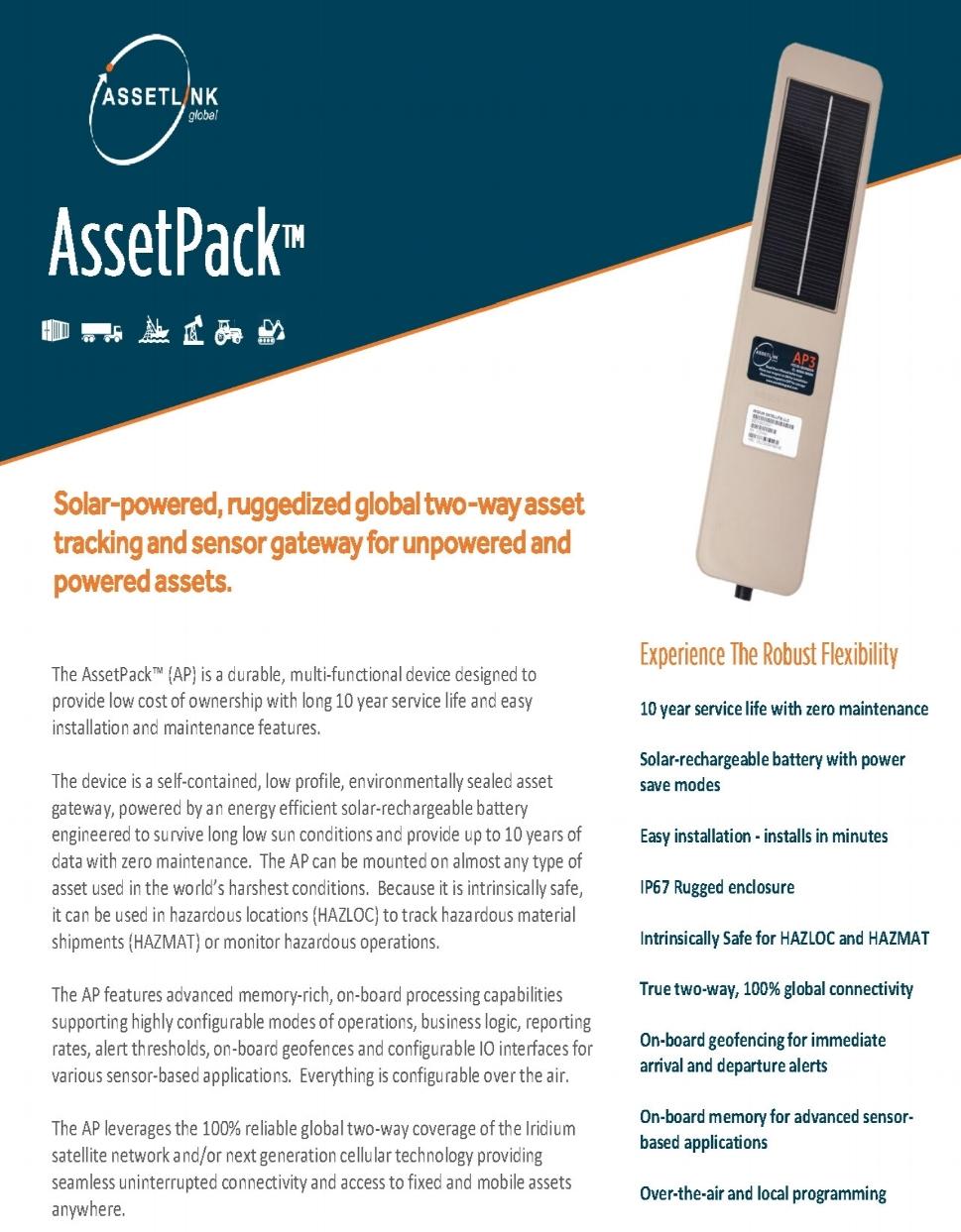 AssetPack Data Sheet