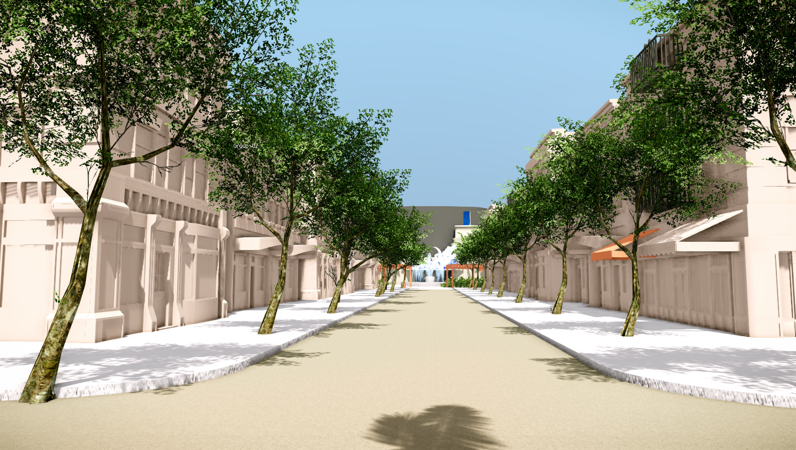 Earlier Iteration of Main Street (CryEngine)