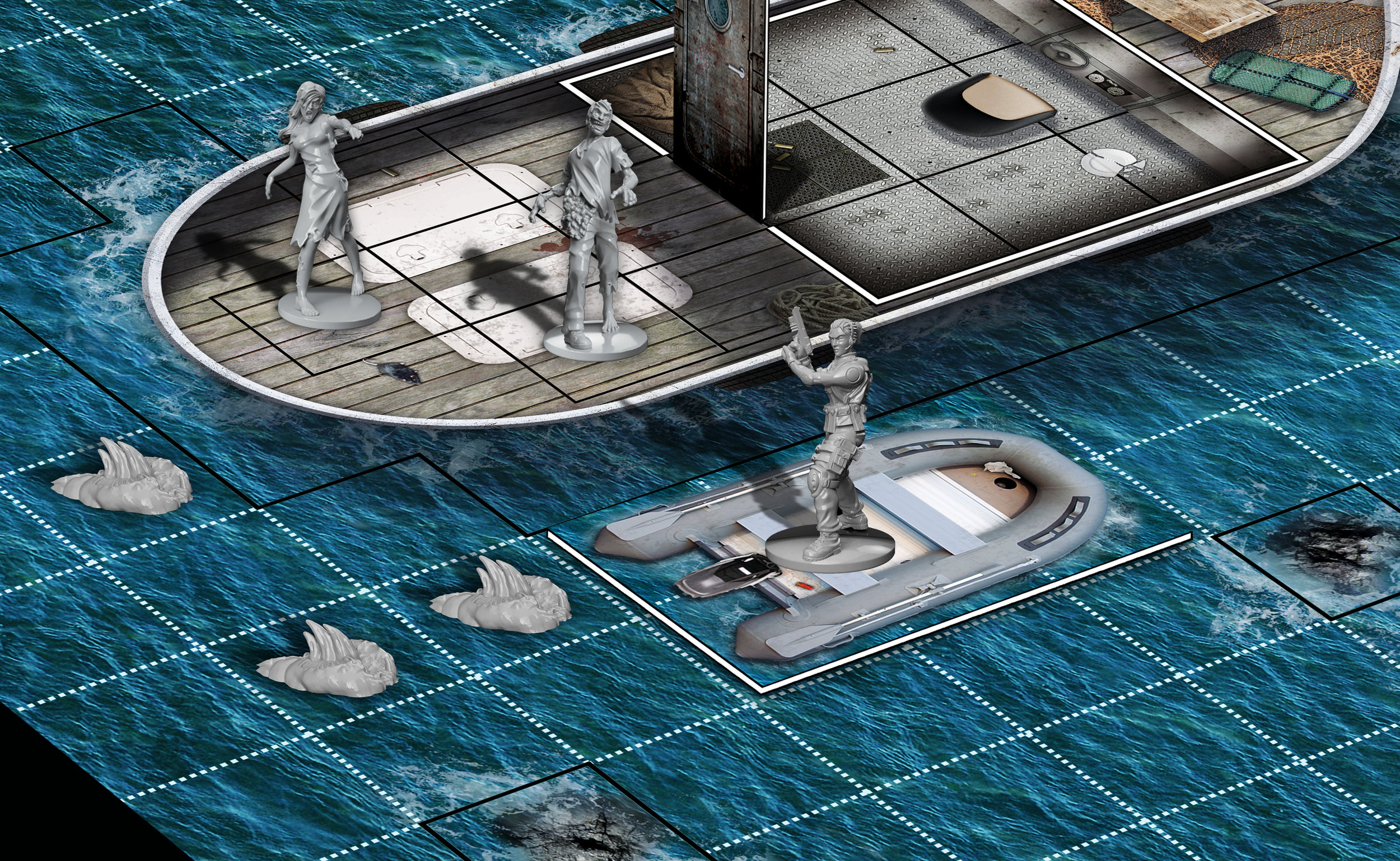 Climb aboard the rib and head out into the open water for a terrifying tussle with the aquatic Reavers.
