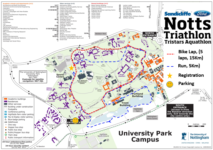 2019 Notts Triathlon Course Map