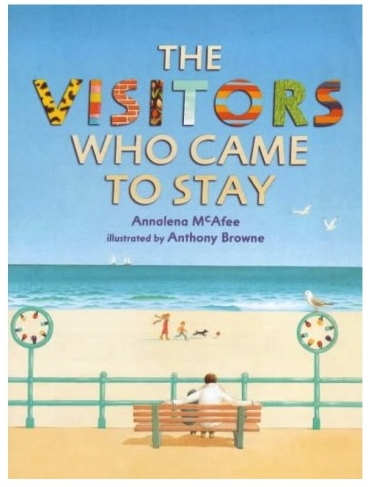 Written by Annalena McAfee, 1985  Katy lives alone with her dad by the sea and she likes it that way. Then, one day, the visitors come to stay, Mary and her son Sean. Now Katy has to share her house, her toys, her walks, her dad and she doesn't like it at all. Her hostility drives the visitors away, but eventually she comes around to accepting them.  Currently out of print