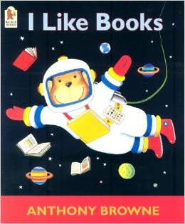 1988  In 'I Like Books', Anthony Browne portrays many different kinds of books - funny books, scary books, books about monsters and pirates, and lots more. The central character is an appealing chimp.