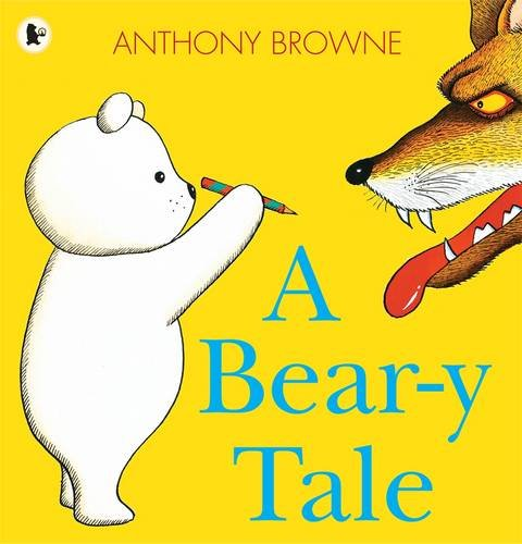 1989  This is the fairy-tale adventure of a little white bear and his magic pencil. Bear is walking through a deep dark forest when he meets a hungry-looking wolf, a giant, a scary witch and a family of three bears. With each encounter, Bear draws his way out of danger with the help of his magic red and yellow pencil. Originally published in 1989 this early work by a picture book master is available again for a brand-new audience.