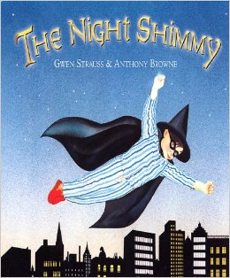 Written by Gwen Strauss, 1991  Eric doesn't like to talk. His secret friend, the Night Shimmy, says everything for him. Then he meets Marcia, who doesn't mind that he is quiet. As the two become friends, the Night Shimmy disappears. Angry and scared, Eric refuses to play with Marcia. But soon she needs his help and Eric discovers that he doesn't need his imaginary friend after all.