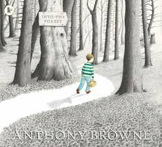 """2004  An atmospheric exploration of a child's anxiety. One night a boy is woken by a terrible sound. A storm is breaking, lightning flashing across the sky. In the morning Dad is gone and Mum doesn't seem to know when he'll be back. The next day Mum asks her son to take a cake to his sick grandma. """"Don't go into the forest,"""" she warns. """"Go the long way round."""" But, for the first time, the boy chooses to take the path into the forest, where he meets a variety of fairy tale characters and discovers the fate of his father."""