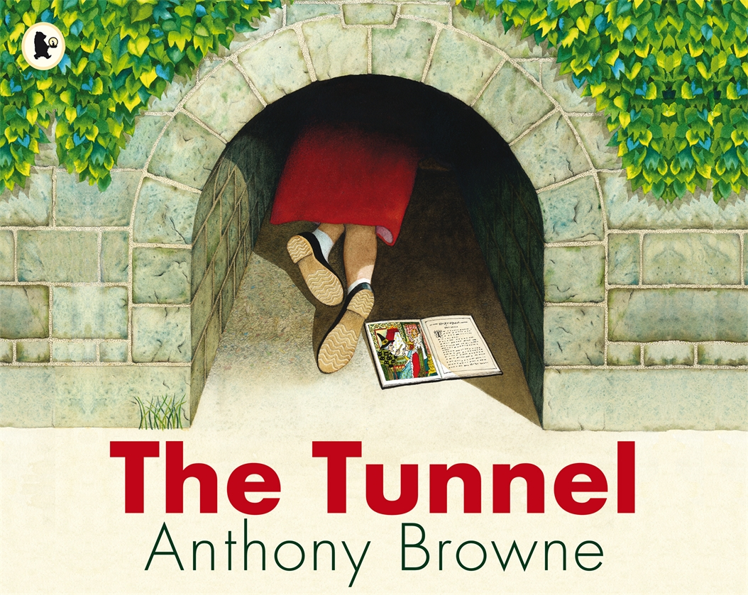1989  Anthony Browne is at his most brilliant in a new edition of this profound picture book about sibling relations. Once upon a time there lived a brother and sister who were complete opposites and constantly fought and argued. One day they discovered the tunnel. The boy goes through it at once, dismissing his sister's fears. When he doesn't return his sister has to pluck up the courage to go through the tunnel too. She finds her brother in a mysterious forest where he has been turned to stone...  Winner of the Netherlands Silver Pencil Award.