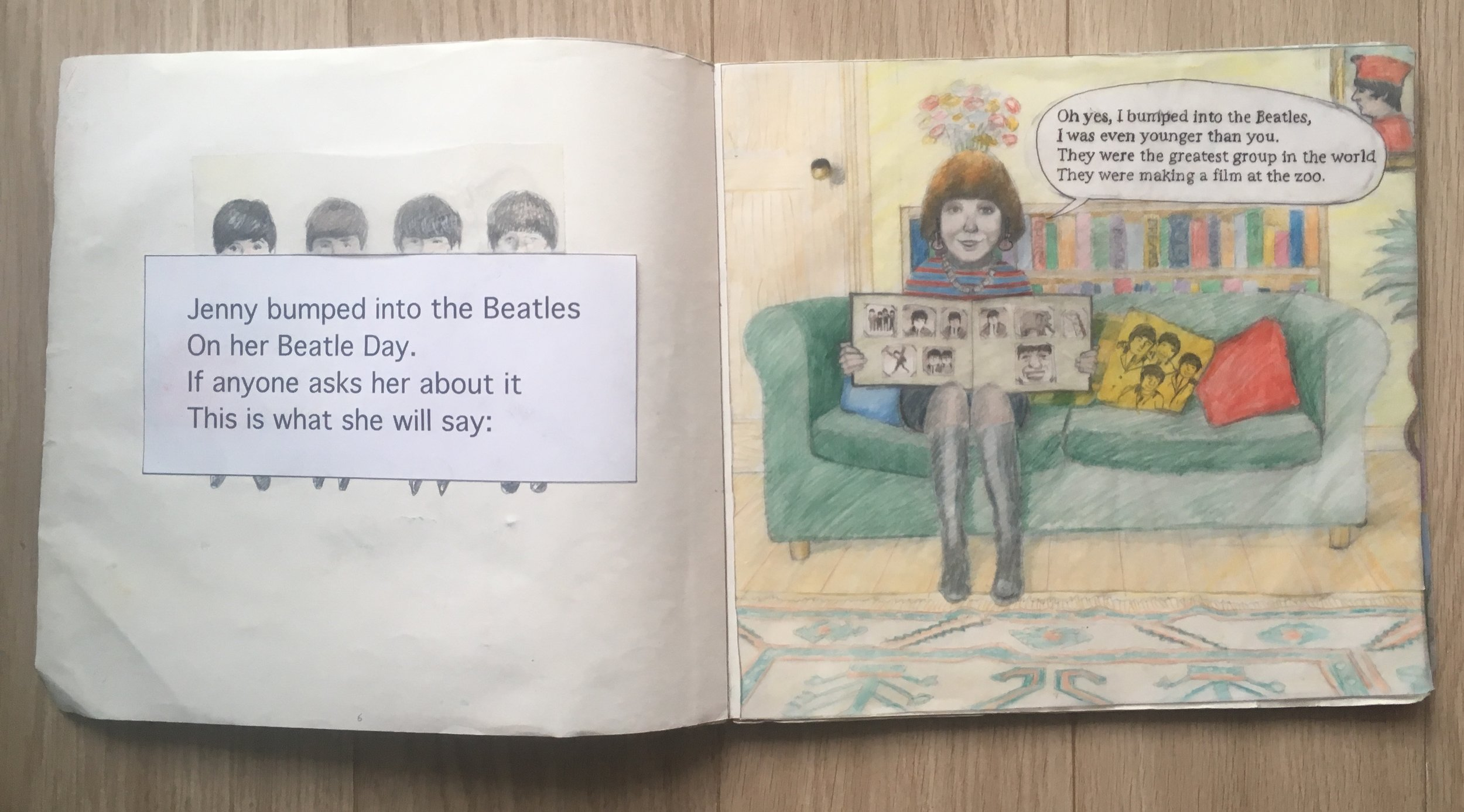 The Beatles Book - While many of Anthony's dummies eventually grow into published books, some never make it. This is a good example of such a book. The images show a selection of pages from the dummy of a story that was never published due to copyright reasons. (Text by Adrian Mitchell)