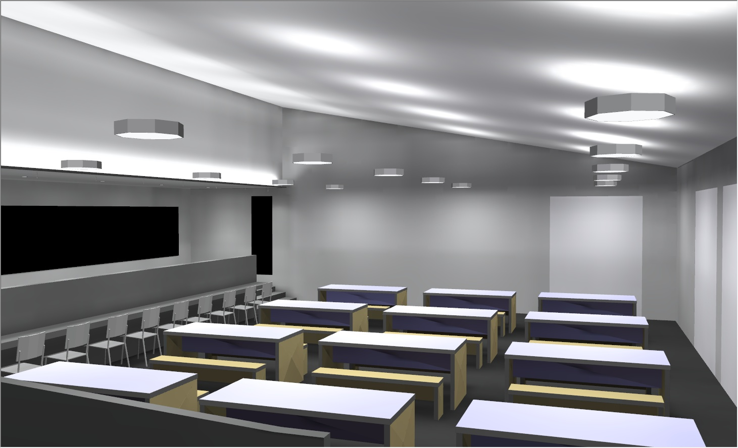 Lighting Simulation of Refectory Area