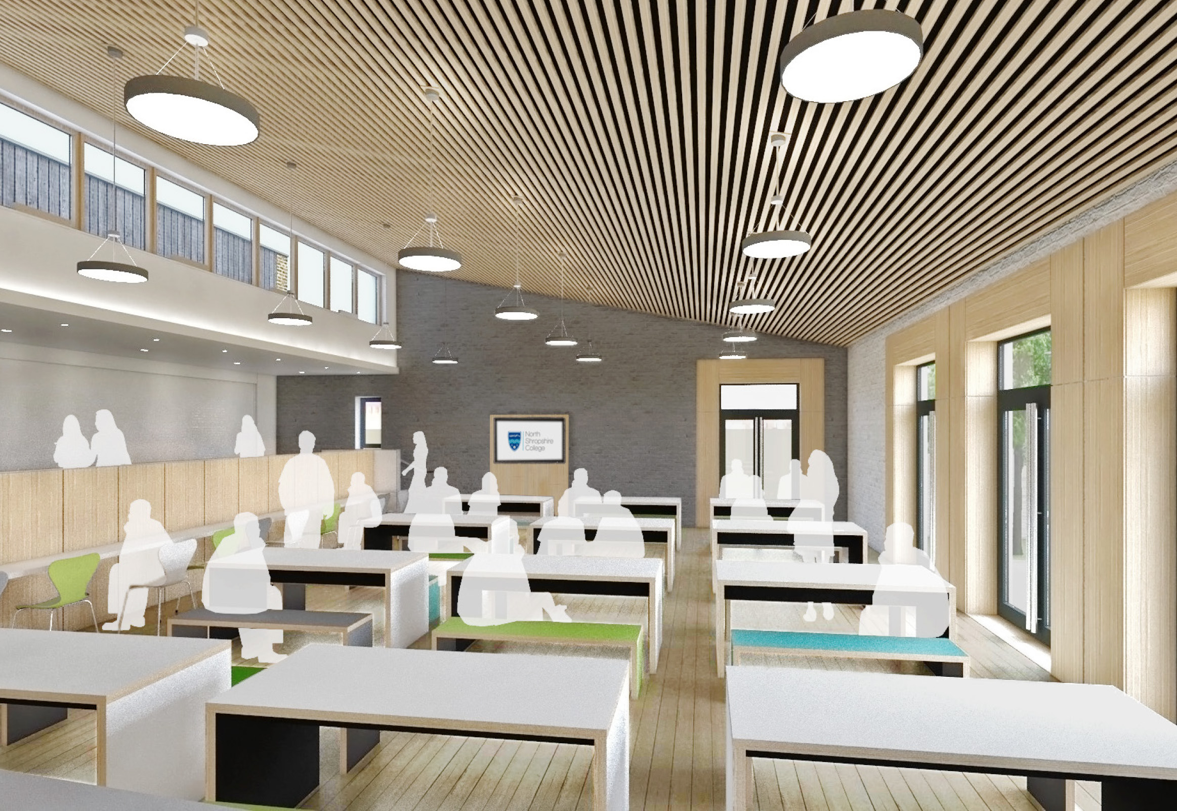 Visual of Proposed Refectory Area by Architect [copyright Hewitt Studios LLP]