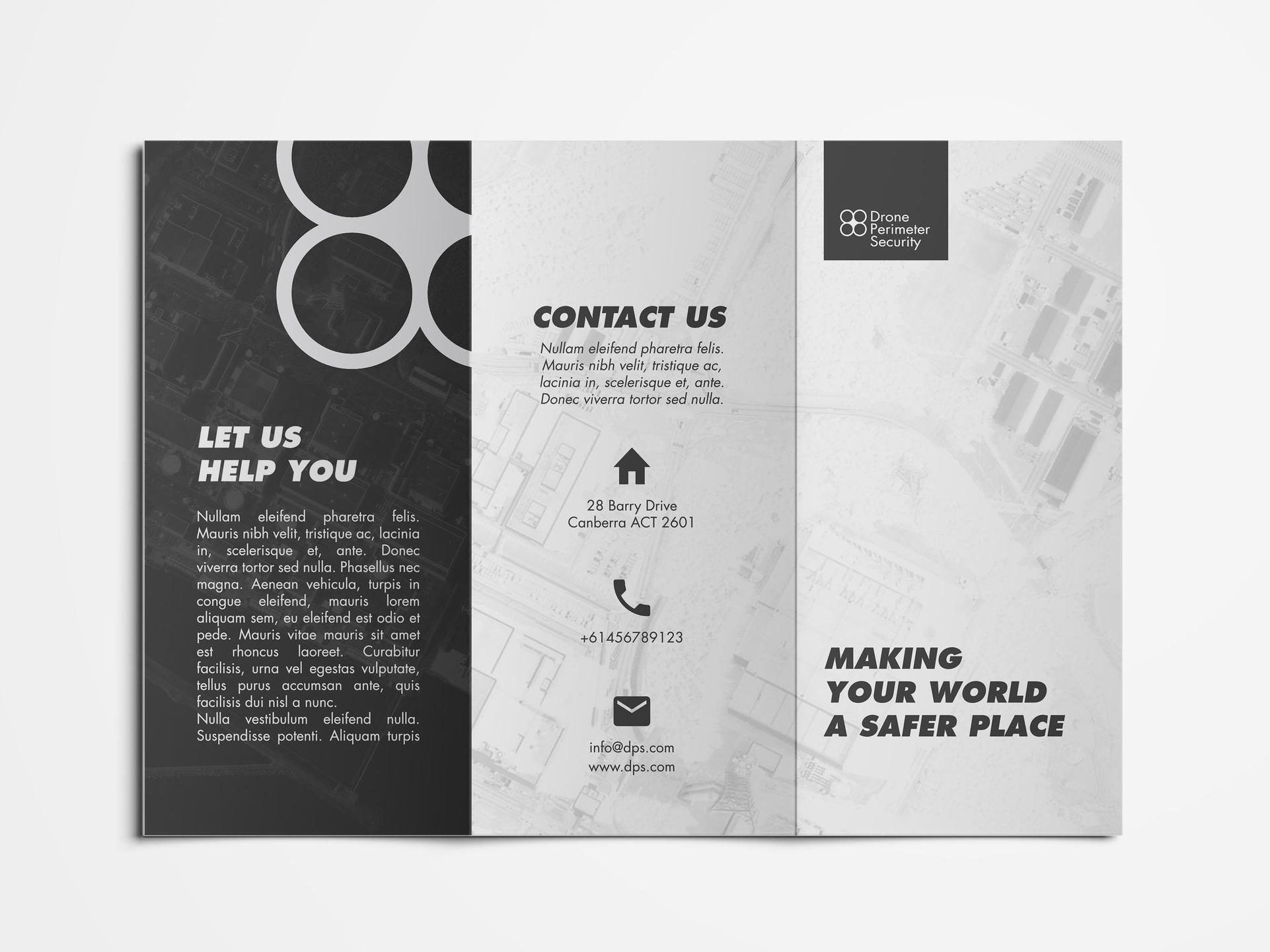 Front Pamphlet Design Layout