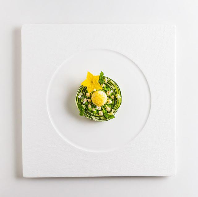 Cucumber, Miso-Mayonnaise, Cream Cheese,  Peas and Cured Egg Yolk 🥒🥚