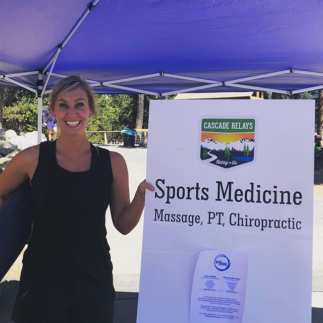 We did our best to keep the runners at Cascade Lakes Relay moving pain free! Massage at elk lake #clr2019 Couldn't ask for a more beautiful setting to work. We have appointments this week! Link in bio! @koupal_anne