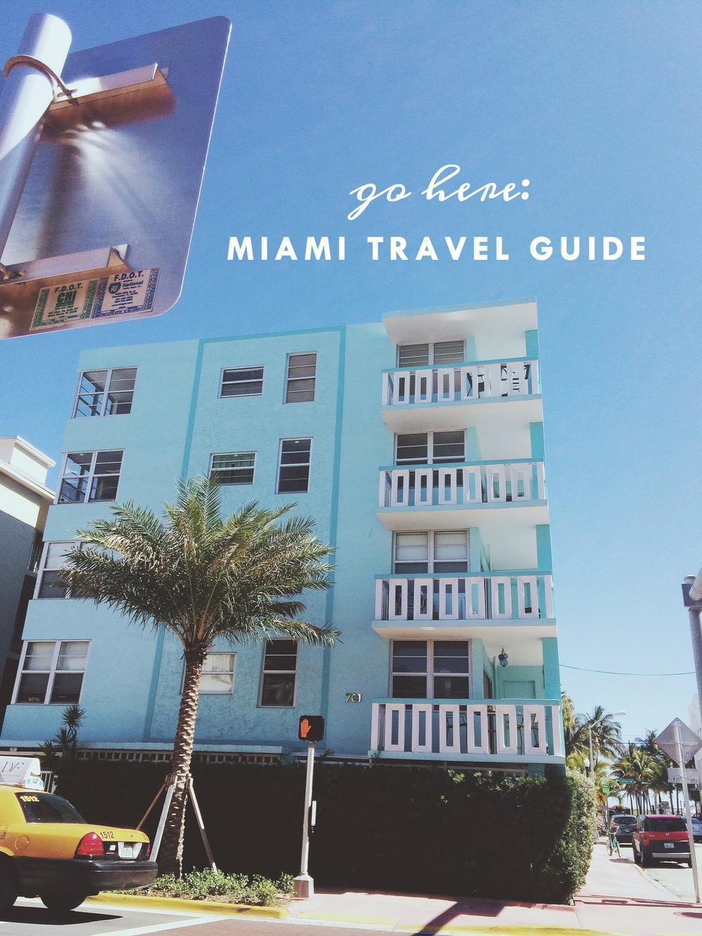 Go here: Miami, FL travel guide