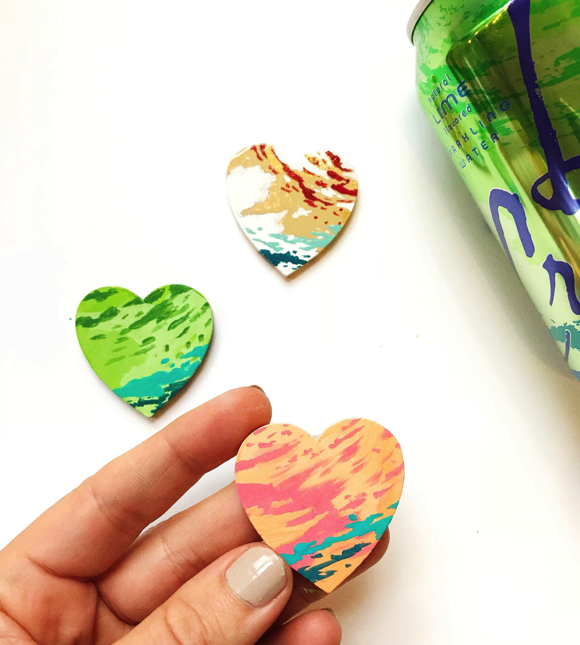 handpainted la croix heart pin