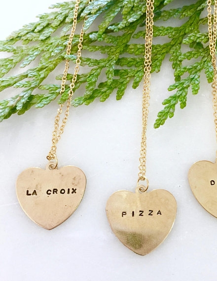 la croix hand stamped necklace