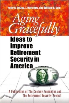 Aging Gracefully: Ideas to Improve Retirement Security in America (Century Foundation Press, 2006), with William G. Gale, J. Mark Iwry.  This collection of essays addresses retirement trends in the United States and puts forth ideas to enable Americans to develop higher levels ofretirement savings.