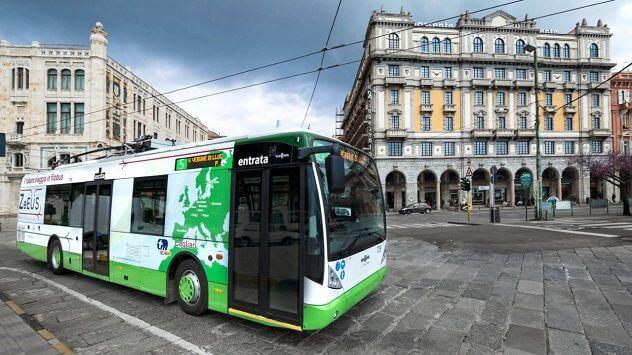 Bus station CTM Piazza Matteotti, Cagliari -