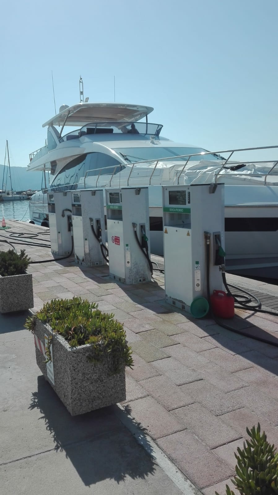 Yacht at the fuel station