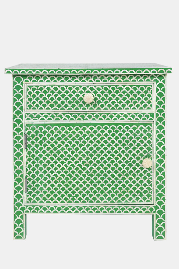 Fish Scale Bedside Table, Fenton & Fenton