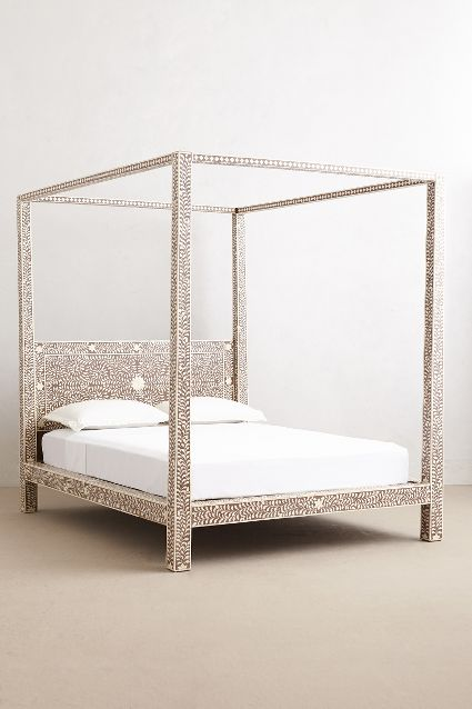 Anthropologie Bone Inlay Bed