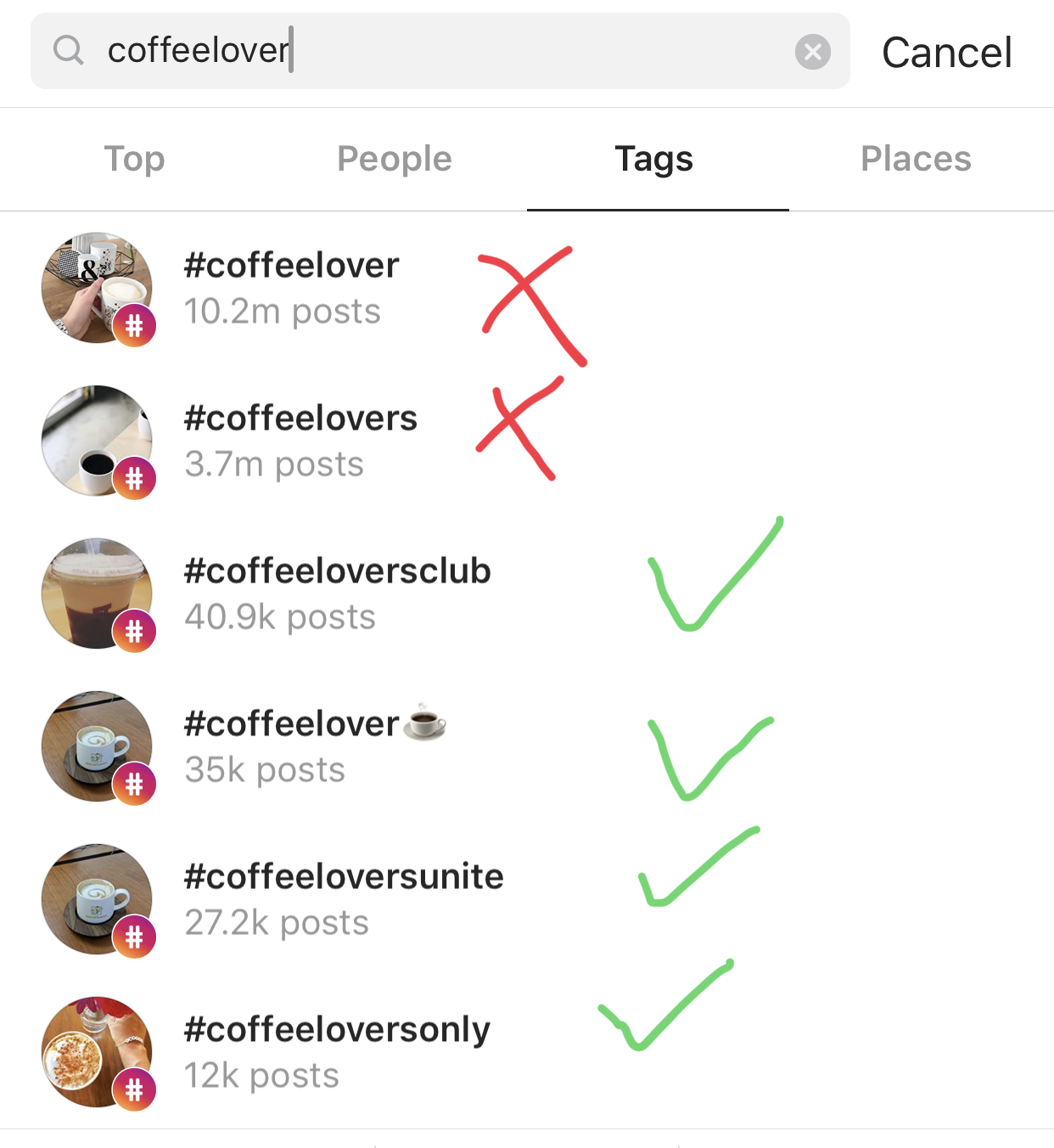 coffee lover hashtags