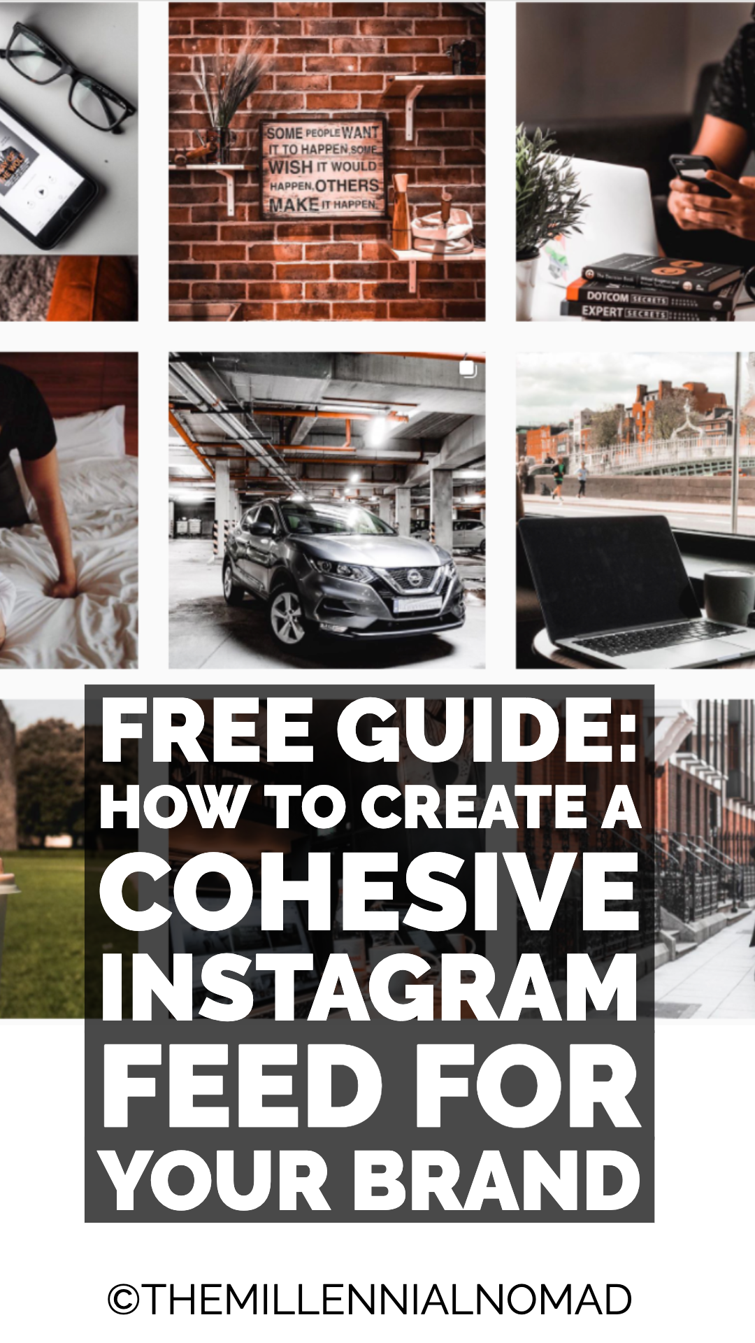 Learn my 5 step process to creating a cohesive instagram feed for your brand on Instagram. #instagrammarketing #instagramforbusiness #contentmarketing #instagramfeed #instagramtips #smallbusiness #influencer