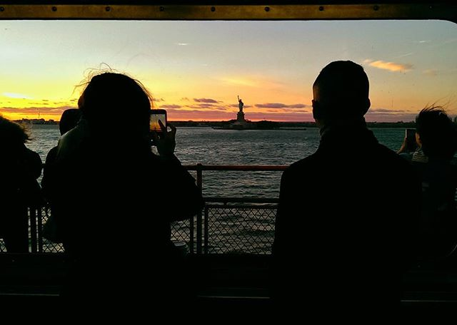 Get a good one #statenislandferry #statueofliberty