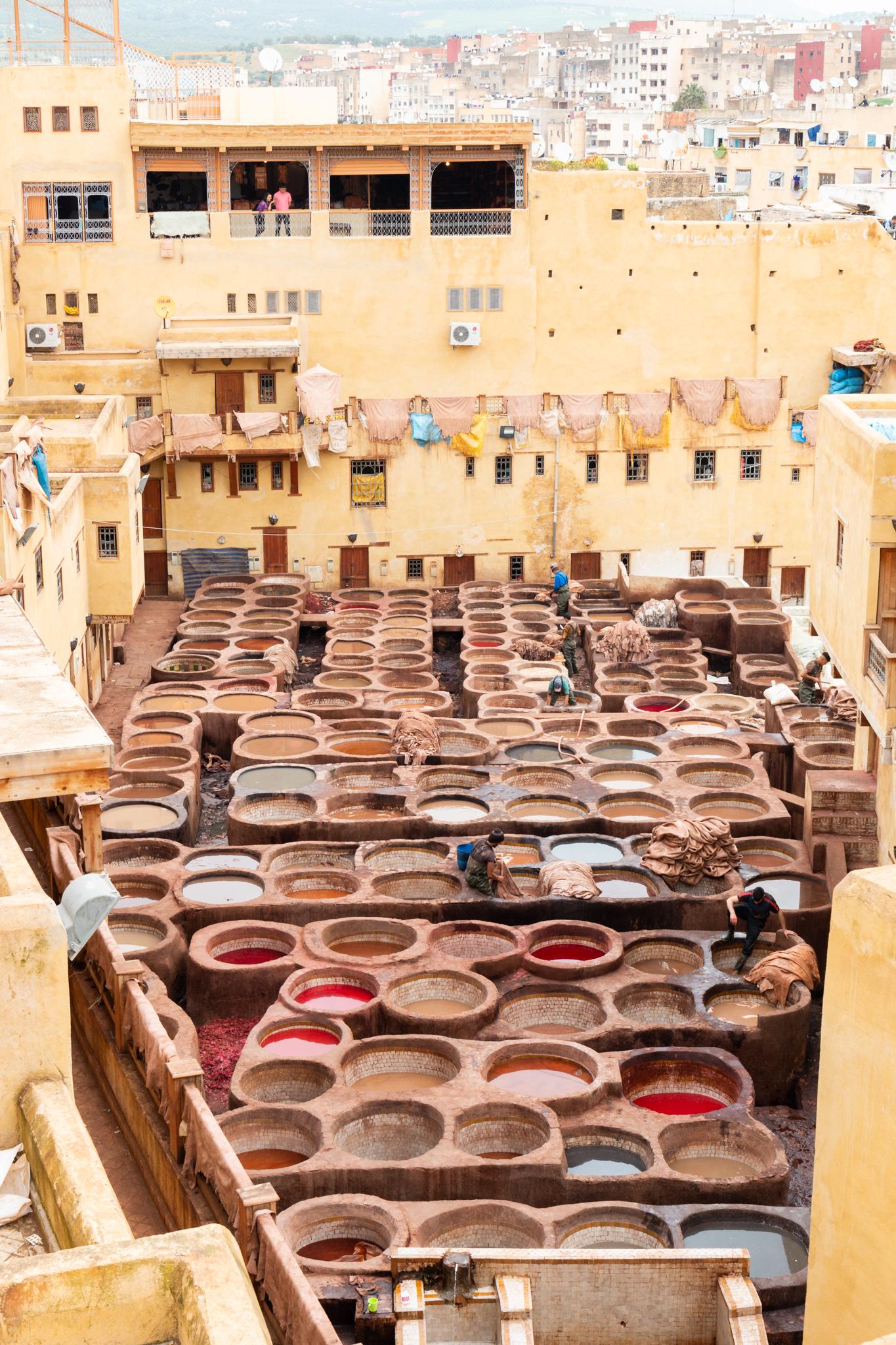 Tanneries Chouara   Fez, Morocco   Ciao Fabello
