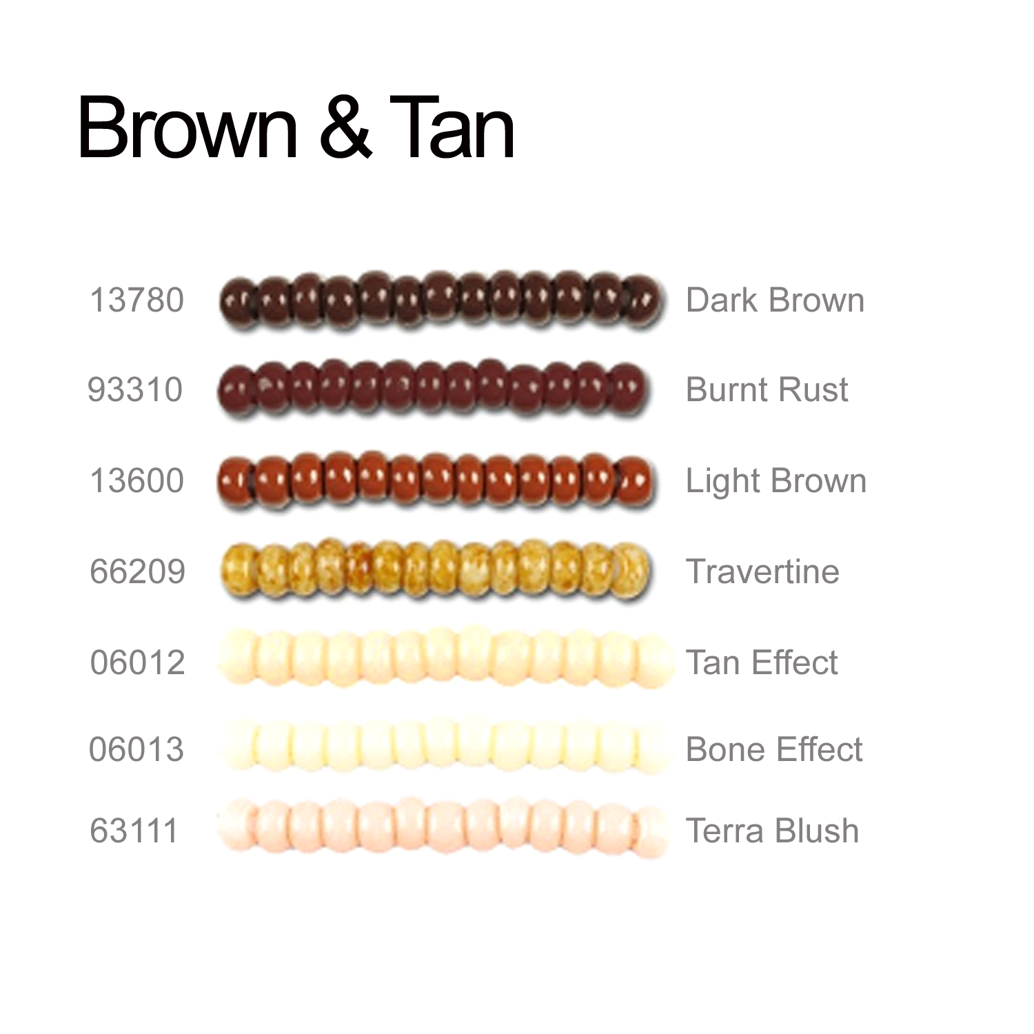 Brown and Tan Seeds Beads