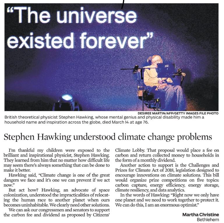 Martha's tribute to Stephen Hawking