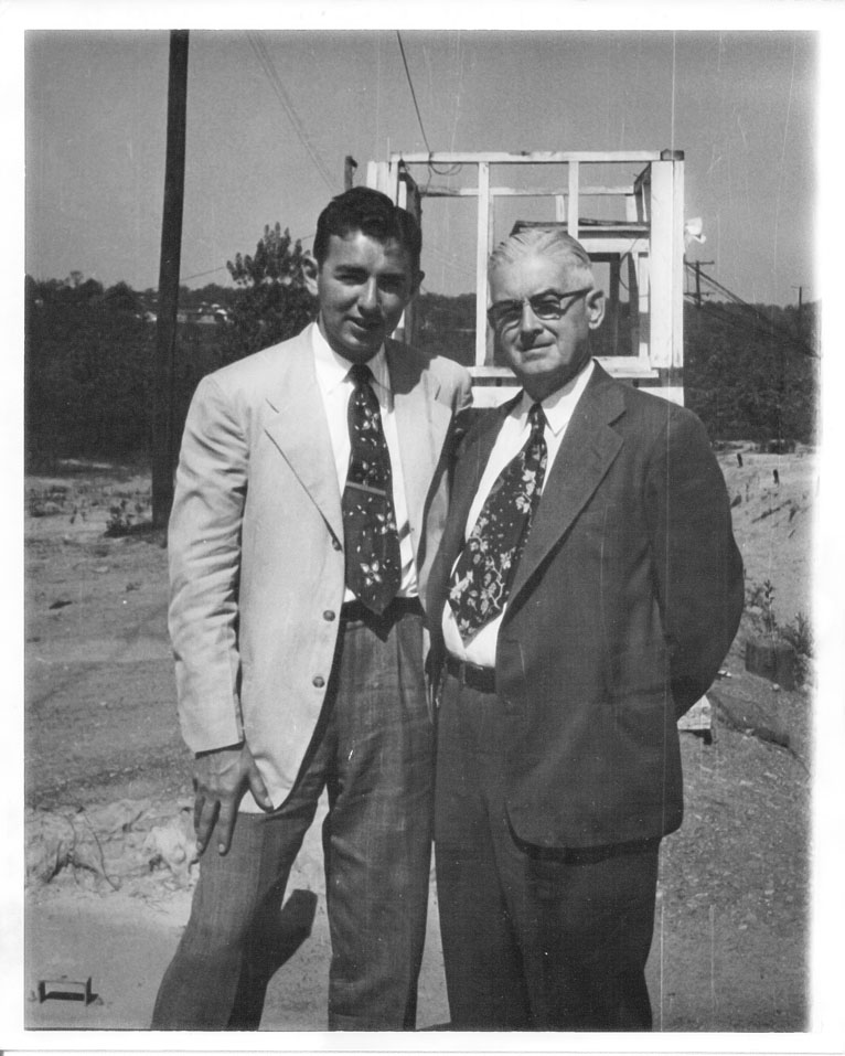 Herbert F. Flynn Jr. (left) and Herbert F. Flynn Sr. (right) in 1952.