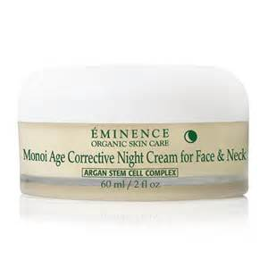 EMINENCE MONOI AGE CORRECTIVE CREAM IS GREAT FOR REALLY DRY SKINS. CONTAIN STEM CELLS, REDUCES WRINKLE DEPTH AND LEAVES SKIN SOFT AND DEWY!