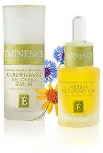EMINENCE CORNFLOWER RECOVERY SERUM IS ANTI-AGING, FIRMING, AND CALMING. GREAT FOR SENSITIVE AND OILY SKINS.  FACIAL HERBAL RECOVERY OIL REDUCES WRINKLES, HEALS, AND HYDRATES.  GOOD FOR ALL SKINS!