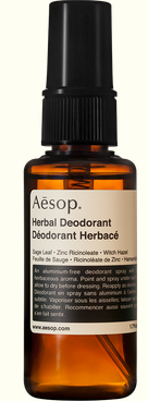 AESOP Herbal Spray Deodorant smells fresh and herbaceous.