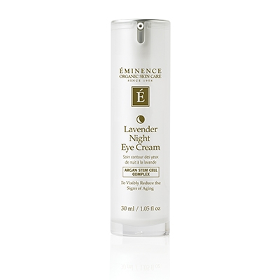 Lavender Night Eye Cream  is a rich, nourishing eye cream that will help diminish the visible signs of aging overnight. Lavender and evening primrose provide aromatherapy benefits while the unique Anti-Aging Stem Cell Complex fight the appearance of crow's feet and leaves skin looking radiant.