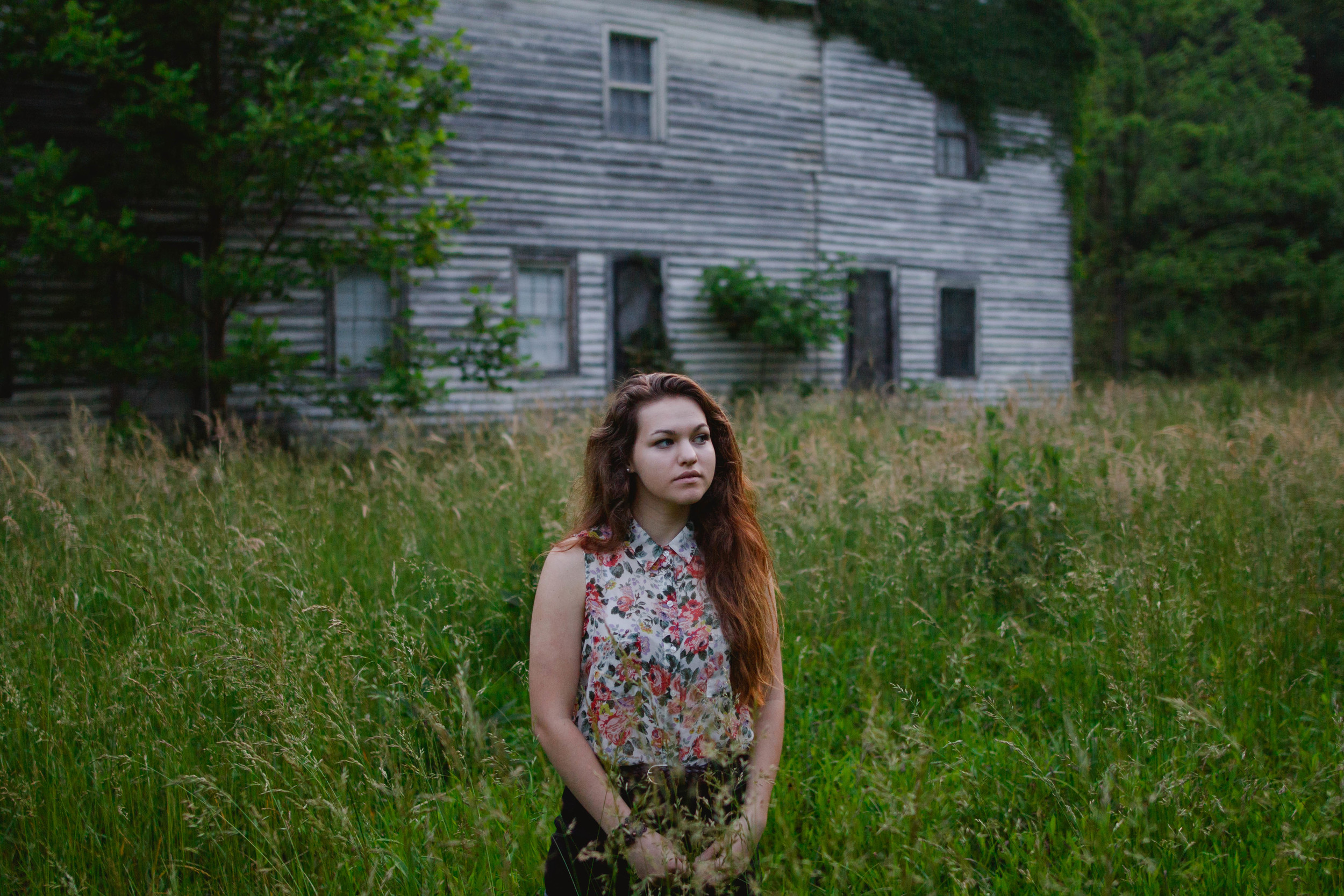 We found this abandoned house on our way out and we both wanted to know when we could move in.