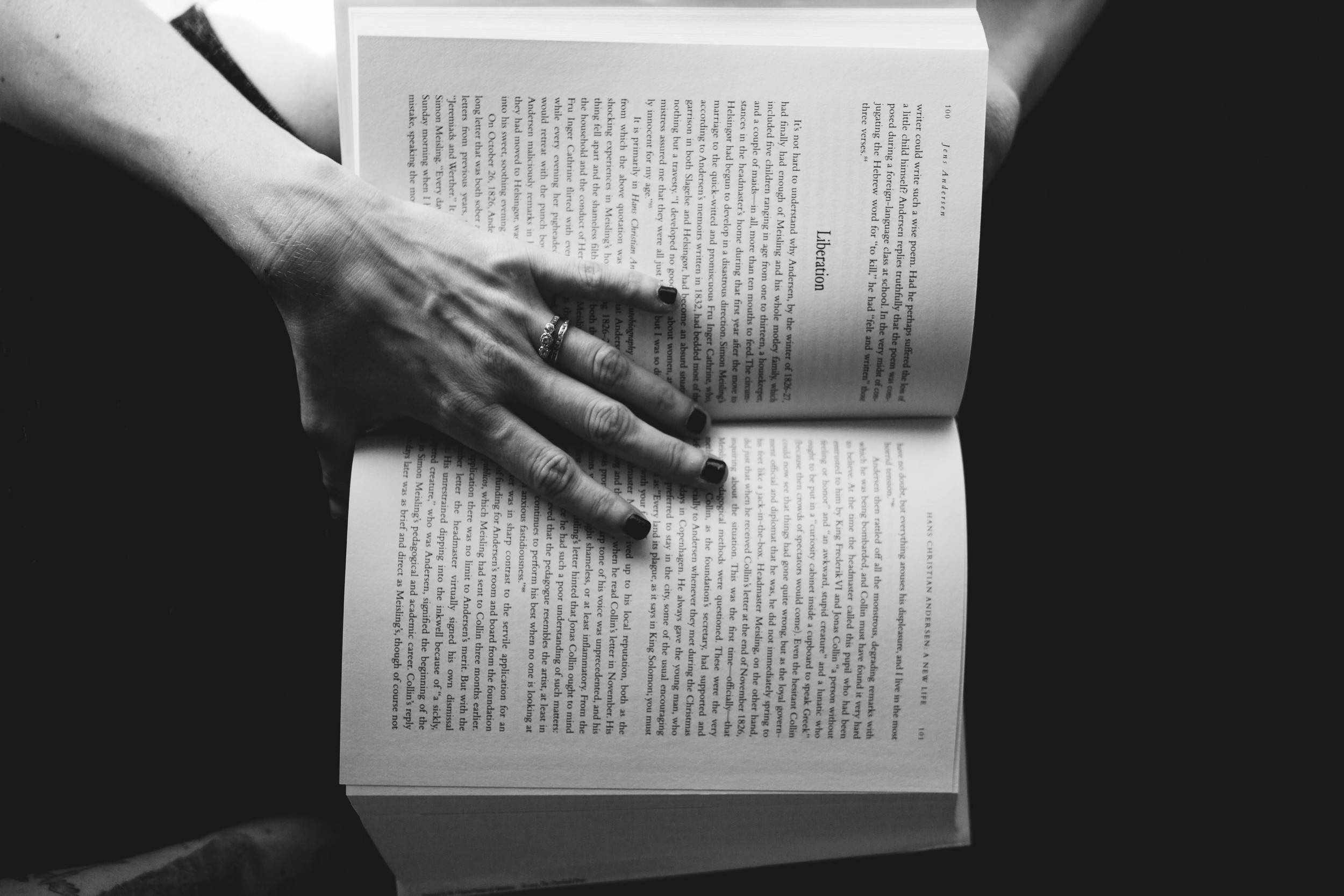 Wedding rings and books and hands are my favorite.