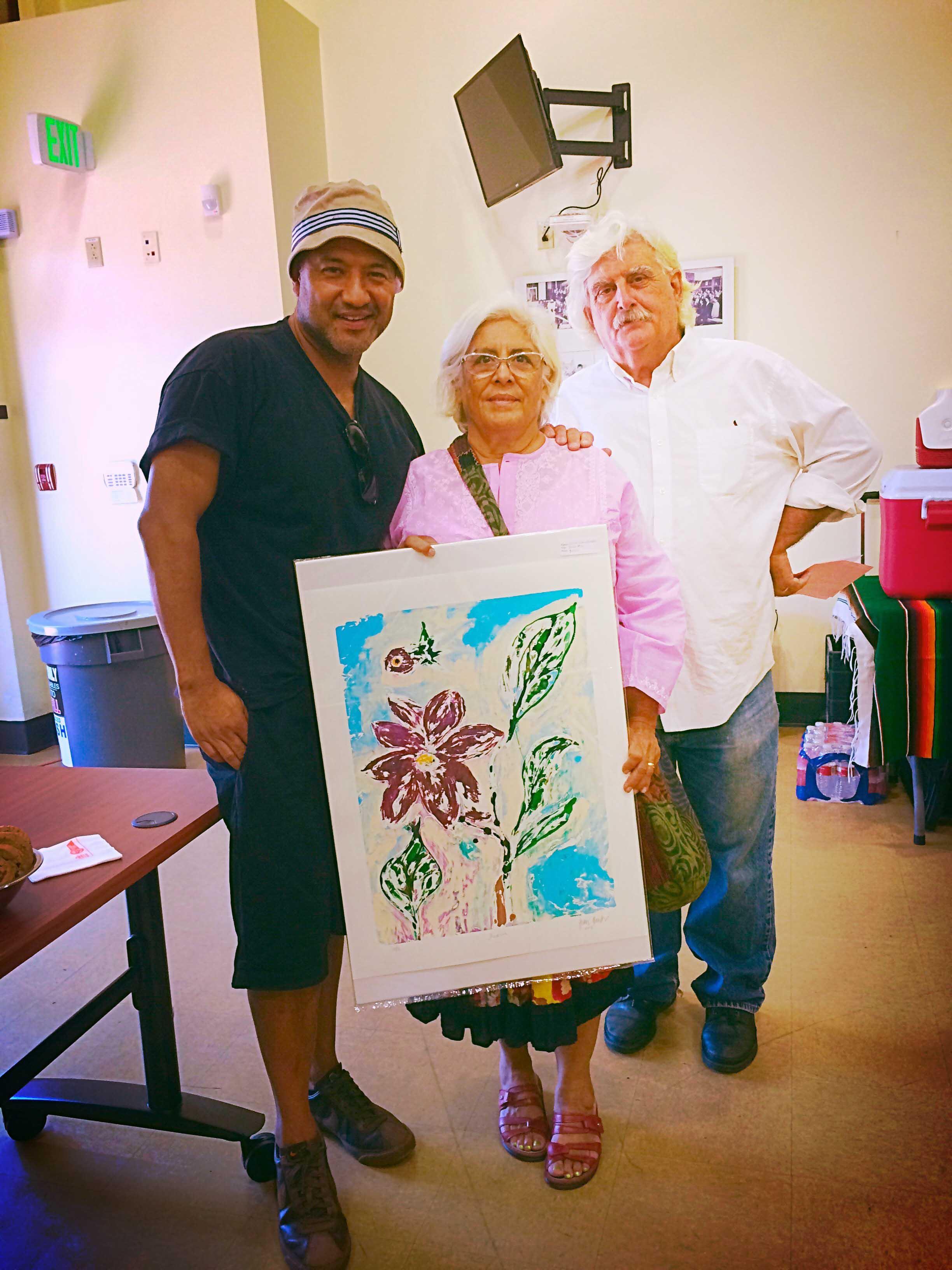 Margaret Garcia, Rhett Beavers with Juan Escobedo
