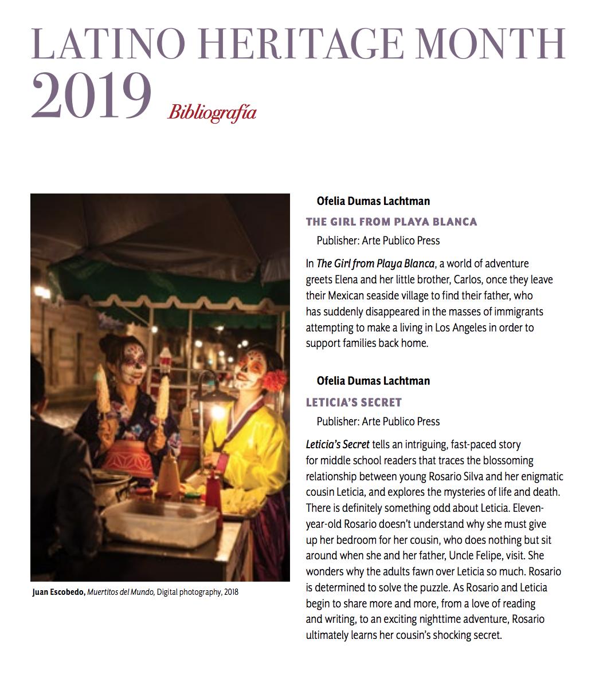 Latino Heritage Month 2019