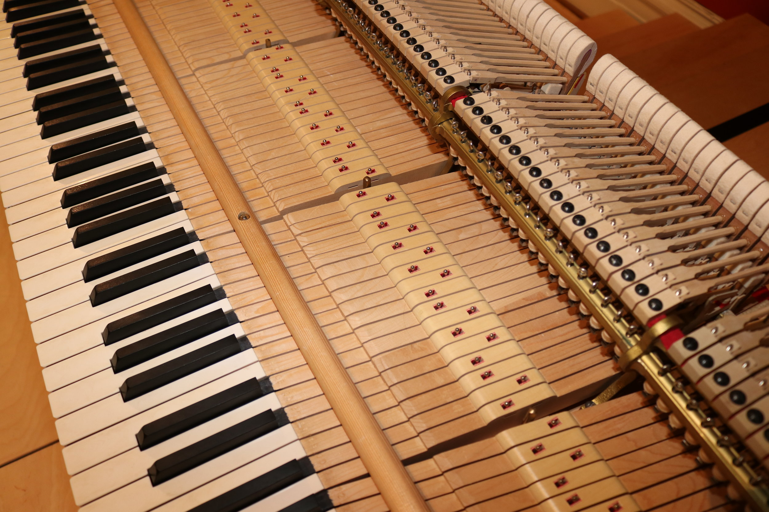 DAY ONE: Keyboard taken out of the instrument.