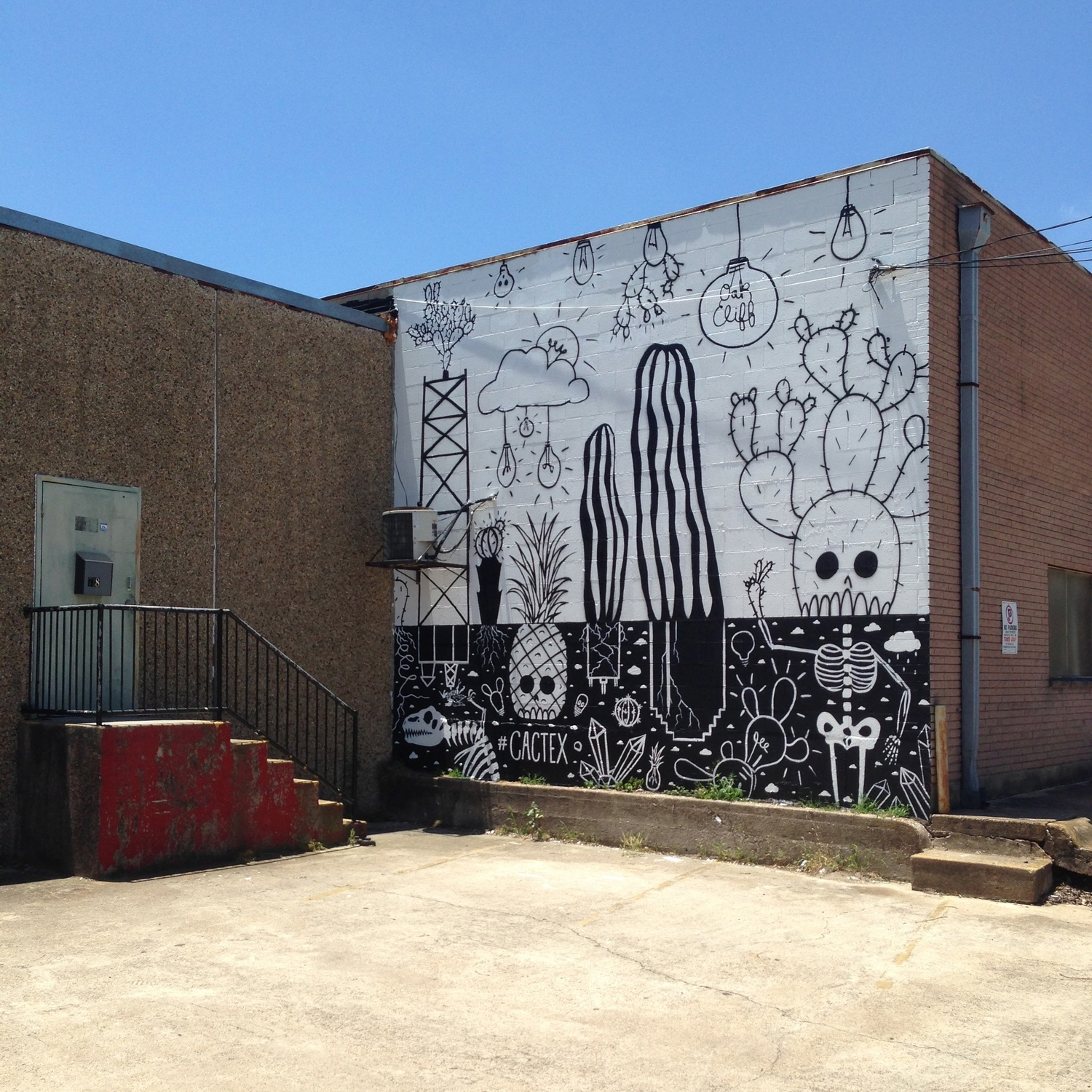 Cactex   Oak Cliff, June 2015  Commissioned by  Mini Fab .