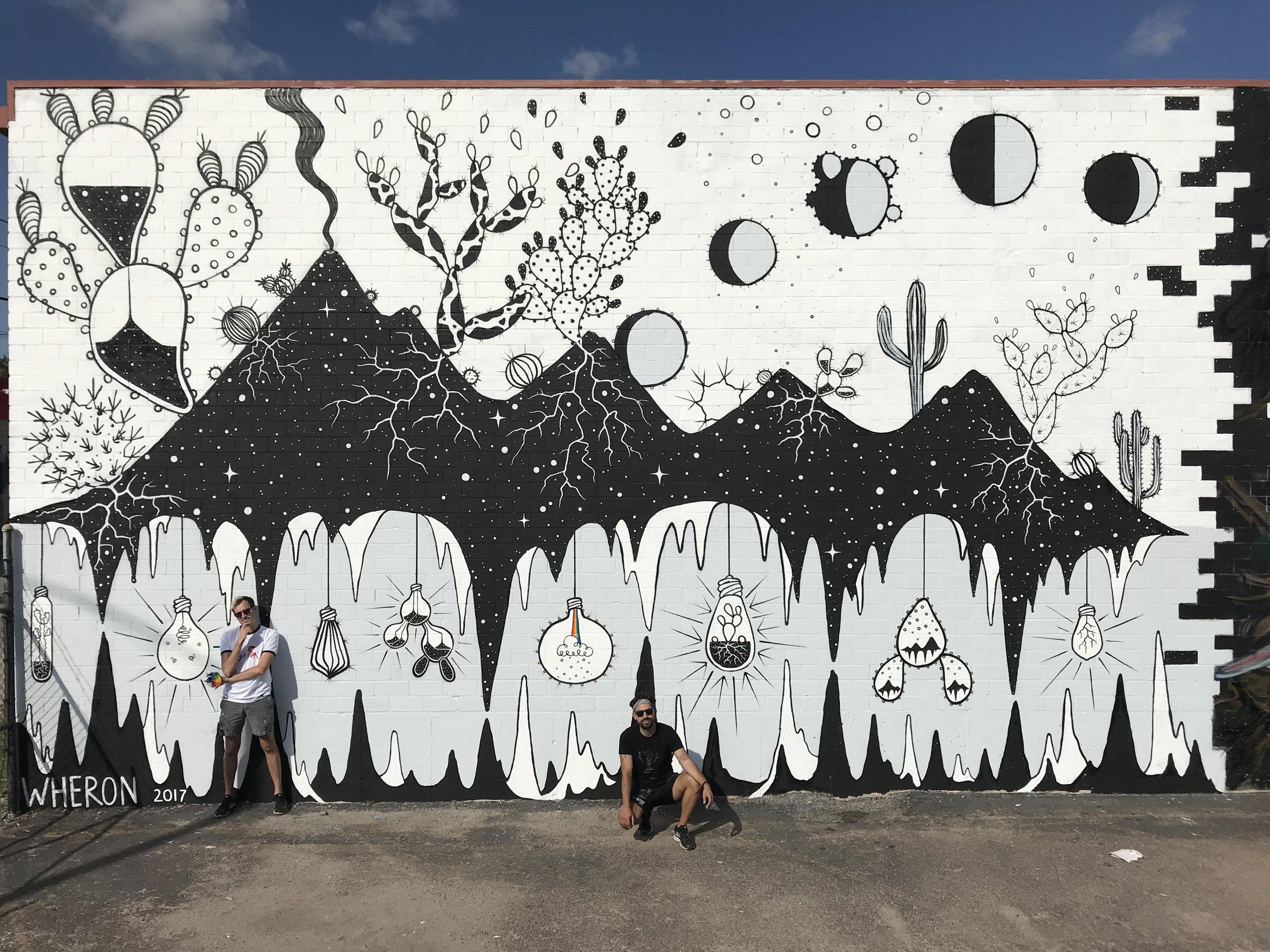 Illuminature   Houston, TX. November 2017.   HUE Mural Festival  Participating Artist