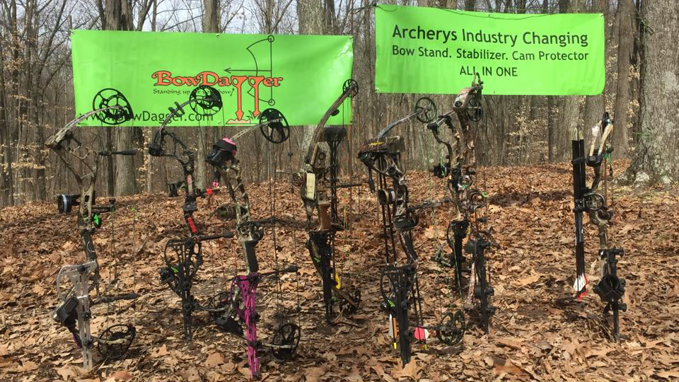For the first time in the history of archery, the BowDagger supports, protects, and stabilizes independently- very universal, with all manufacturers, models and right or left handed bows.